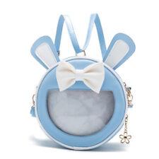 Blue Lolita Bowknot Japanese Shoulder Bag Rabbit Ear Transparency Backpack Bag A