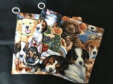 New listing Dogs Puppy On Porch Potholders (2) Handmade By Me!