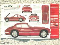 1952/1953/1954/1955 Fiat 8V/V8 SPEC SHEET/Brochure/