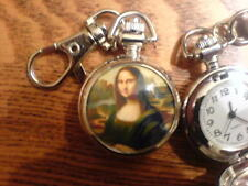 Mona Lisa Clip On Pocket Watch Montre Mona Lisa