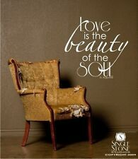 Wall Decal Quote Love Beauty Soul - Vinyl Text Wall Stickers Art Graphics