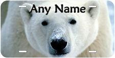 Polar Bear Personalized Aluminum Any Name Novelty Car License Plate