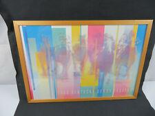 LARGE Kentucky Derby Festival 1988 Art Deco poster framed