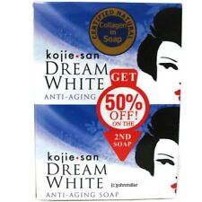 2x 65g Kojie San DREAM WHITE Skin Whitening Anti-Aging Kojic Acid Soap Bars