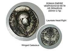 Roman Vespasian AD 69-79 AR Denarius (18mm/2.7g) Uncleaned