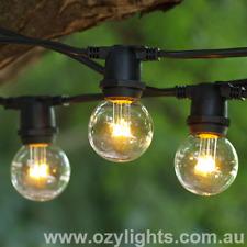 20 Meters 45 Sockets LED Festoon Outdoor Globe String Lights