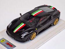 1/18 Looksmart MR Ferrari F430 Scuderia Nero DS Italian Stripe Gold Wheel Alcant