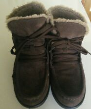 Fitflop brown sheepskin suede ankle  boot uk6