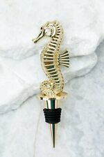 LILLY PULITZER Wine Stopper ~ BEACH LOOT ~ Gold Metal Seahorse ~ Gift Box ~ NEW!