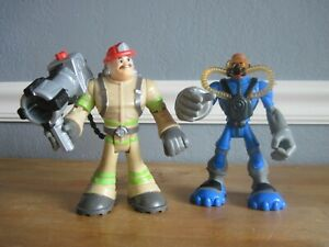 2002 Hasbro Rescue Hero action figure Lot of 2 6in. Jointed VGUC