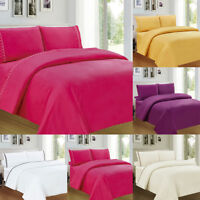 3/4pcs Fitted Sheet Cotton Polyester Bed Sheets Twin Full Queen King Size