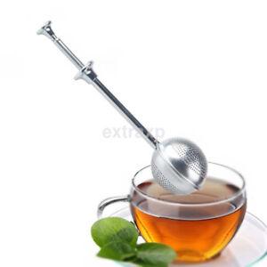 Teacup Tea Infuser Bag Stainless Steel Mesh Spoon Leaf Herbal Strainer Filter UK