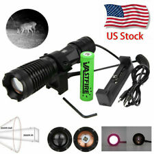 Zoom 940nm IR illuminator Infrared Light Night Vision Predator Torch Gun Mount