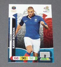 KARIM BENZEMA KB9 FRANCE BLEUS FOOTBALL CARD PANINI UEFA EURO 2012