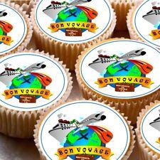 24 Glaçage Gâteau Cupcake Fée Toppers Décorations Bon Voyage Voyage Moving ND2
