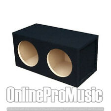 Absolute USA DSS12 Dual 12-Inch, 3/4-Inch MDF Sealed Subwoofer Enclosure w/ Logo