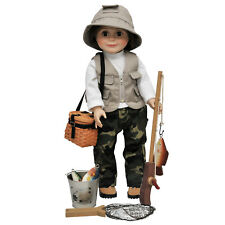 18 In Doll Fishing Clothes, Shoes & Accessories For American Girl Dolls QUALITY