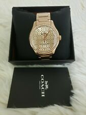 Authentic  and Brandnew  Rose Gold Tone Maddy Coach Watch