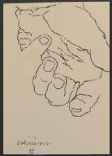 EDUARDO CHILLIDA - Hand -  Offset lithograph on cardstock -1970