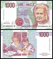 RIPROD 1.000 LIRE MARIA MONTESSORI FDS BANCONOTA LIRA REPUBBLICA 1000 ITALY NOTE