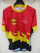 Maillot cycliste E.C EU NORMANDIE Owayo cycling shirt zip intégral 3XL XXXL