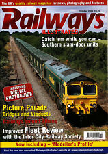 RAILWAYS ILLUSTRATED 2/10 OCT 2004 Network News,Slam Door EMUs,Class 86/2,Athens