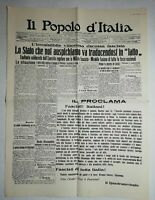 N1045 La Une Du Journal il popolo d'Italia 29 octobre 1922 il proolama