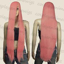 100cm Milkshake Pink Heat Styleable long Cosplay Wigs  85_KPN