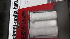 EASTERN CORAL WHITE BMX BIKE GRIPS +BAR ENDS MTB freestyle SE S&M DK KINK GT NEW