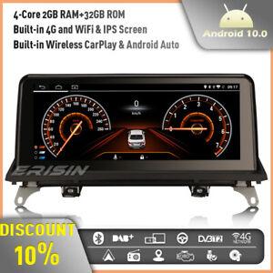 "10.25"" CarPlay Android 10 Car Stereo Sat Nav DAB+Radio BMW X5 E70 X6 E71 CIC IPS"