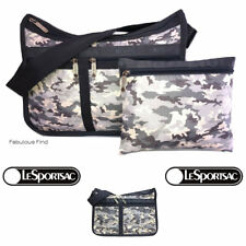 LeSportsac Camo Concert Deluxe Everyday Bag + Cosmetic Bag Free Ship Camouflage