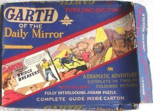 "GarthJigsaw - Daily Mirror ""Garth Versus The Bridge Breakers"" 1950s - Bell Toys"