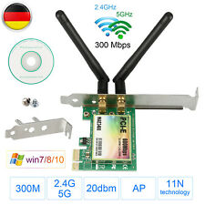 300Mbps PCI-E Wireless WLAN Karte Bluetooth PCI Express Dual Band 2,4GHz/5.0GHz