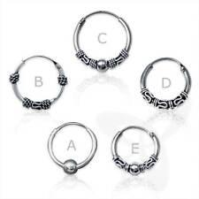 925 Silber Ohrringe Keltische CREOLE SINGLE/PAAR Gothic Celtic Bali Ohrpiercing