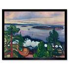 Painting Landscape Painting Edvard Munch Train Smoke 12X16 Inch Framed Art Print