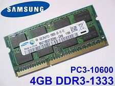 4GB DDR3 1333 MHz PC3-10600S SAMSUNG M471B5273CH0-CH9 SO DIMM LAPTOP RAM MEMORY