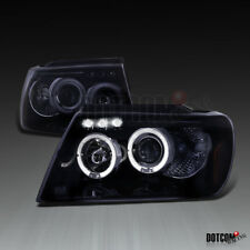 Glossy Black 1999-2004 Jeep Grand Cherokee Smoke LED Halo Projector Headlights