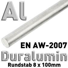Duraluminium-varilla redonda 8 x 100 mm, material de referencia en aw-2007 3.1645, barra redonda