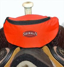Red Insulated Nylon Saddle Pouch Bag Trail Riding New Horse Tack