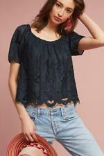 NWT SZ S Anthropologie Messina Top By Moulinette Soeurs Black