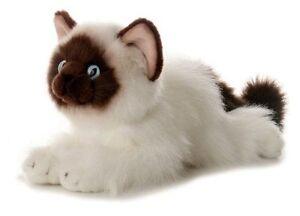 "Bella Siamese Cat 12"" Aurora Flopisie Stuffed Animal Plush NWT 31112"
