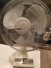"Vintage Hard to Find Lasko 16"" Oscillating Desk / Table Fan 3 Speed WORKS GREAT!"