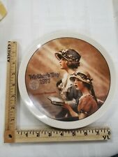 """Norman Rockwell Plate, """"Faith"""", Second Annual Mother's Day 1977, Knowles"""