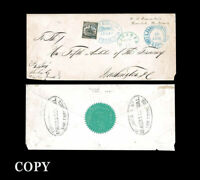 USA 1861  The Black Pony--the finer of two recorded $4.00 Pony Express,  COPY