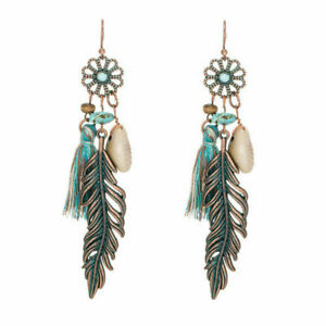 HORSE & WESTERN JEWELLERY JEWELRY LADIES LONG BOHO TASSLE EARRINGS