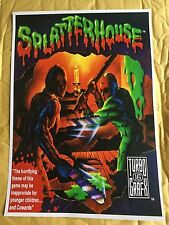 Splatterhouse Tg16 Game Poster Print In A3 #retrogaming This A Poster