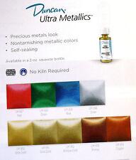 Ceramic Paint Acrylic Ultra Metallics Duncan UM 2oz Bottles inventory POHC 208