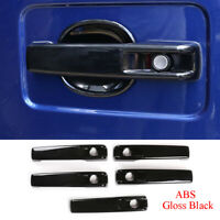 5*Gloss Black ABS Outer Door Handle Cover For Benz G W463 G350 G55 G63 2019-2020