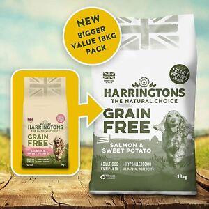 Harringtons Grain Free Hypoallergenic Dry Dog Food Salmon Sweet Potato 18 kg Bag