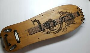 Dragon lap steel guitar skateboard 6S  by Robert Matteacci